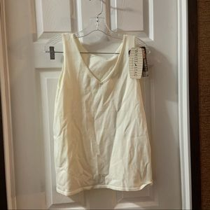 White Stag Cream Wear 2 Ways Reverse Tank Large